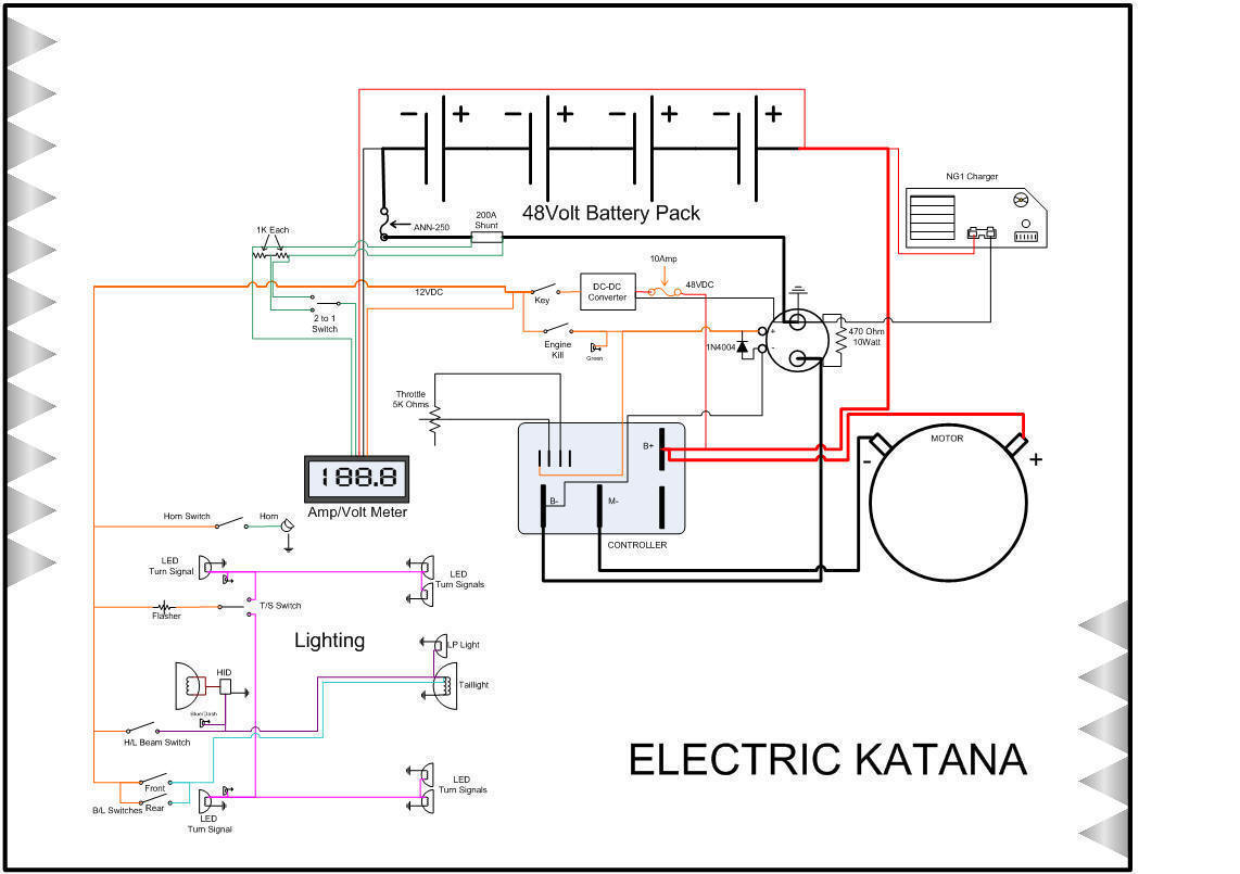 Custom Electric Motorcycle Trojan T 1275 Wiring Diagram If You Have Any Questions About The Bike Or Conversion Please Feel Free To Email Me Ekatanaatwinmedicdotcom Call At 8o5 886 5213